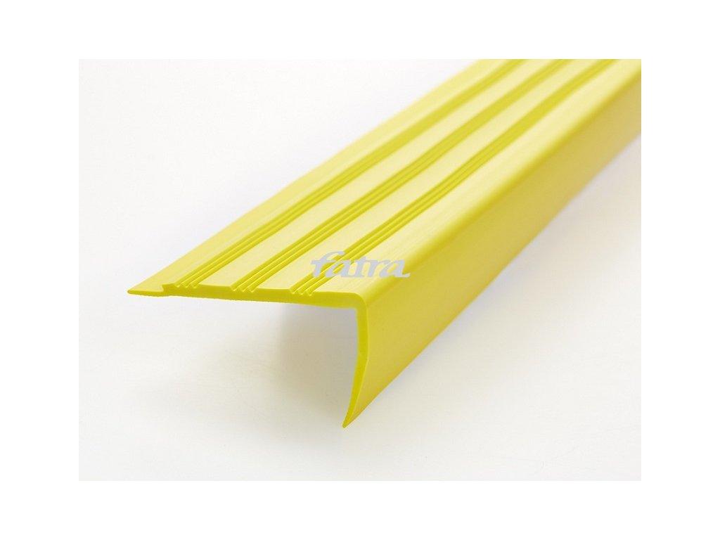FATRA Plastová schodová hrana H1891, žlutá barva 421