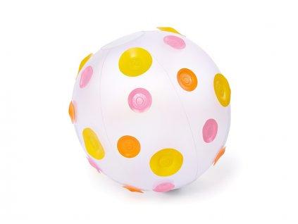 míč puntíky růžové
