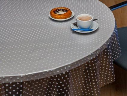 FATRA Ubrus s puntíky, průhledný, 160x130 cm