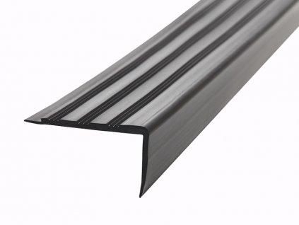 FATRA Plastová schodová hrana H1891, černá barva 600