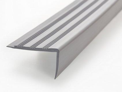 FATRA Plastová schodová hrana H1891, světle šedá barva 280