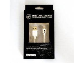 NHL lightning datový kabel pro iPhone / MFI - Chicago Blackhawks - LGX-11208