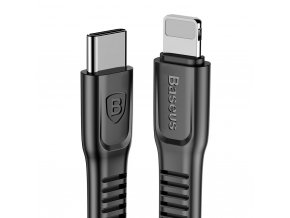 Baseus Tough kabel USB-C PD / Apple Lightning 2m černý