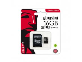 Kingston Micro SDHC 16GB Class 4 + adaptér