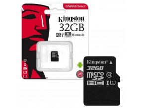 Kingston Canvas Select Micro SDHC 32GB Class 10 / UHS-I / 80Mb/s