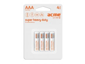 ACME baterie AAA Super Heavy Duty R03P / 4ks