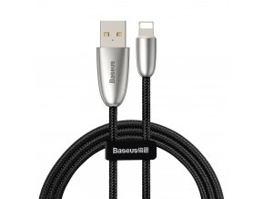Baseus Torch svítící USB kabel - iPhone Lightning / 1m / 2,4A black CALHJ-C01