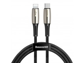 Baseus Drop kabel USB-C PD / Apple Lightning 18W / 1,3m / QC 3.0. black CATLRD-01