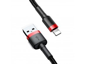 Baseus Cafule USB kabel - iPhone lightning QC 3,0 / 3m / 2A black-red CALKLF-R91