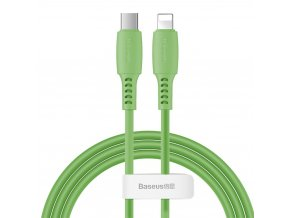 Baseus Colorful kabel USB-C PD / Apple Lightning 1,2m / 18W zelený CATLDC-06