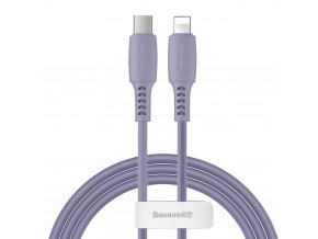 Baseus Colorful kabel USB-C PD / Apple Lightning 1,2m / 18W violet CATLDC-05