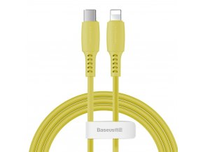 Baseus Colorful kabel USB-C PD / Apple Lightning 1,2m / 18W žlutý CATLDC-0Y