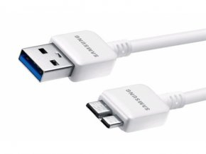 SAMSUNG datový kabel ET-DQ11Y1WE, N9005 Galaxy Note 3 (bulk)
