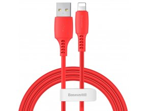 Baseus Colorful kabel USB / Apple Lightning 1,2m / 2,4A červený CALDC-09