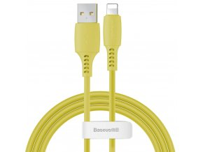 Baseus Colorful kabel USB / Apple Lightning 1,2m / 2,4A žlutý CALDC-0Y