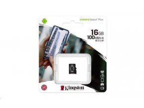 Kingston Canvas Select Plus Micro SDHC 16GB  Class 10 / UHS-I / 100Mb/s
