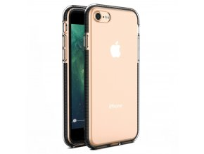 "Spring Case TPU pouzdro pro Apple iPhone 7 / 8 (4,7"") / SE 2020 clear / black"