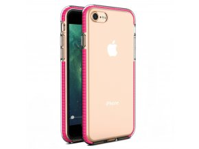 """Spring Case TPU pouzdro pro Apple iPhone 7 / 8 (4,7"""") / SE 2020 clear / pink"""