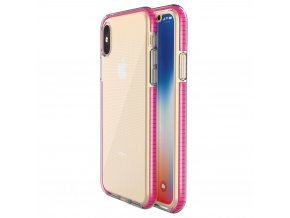 Spring Case TPU pouzdro pro Apple iPhone X / Xs clear / pink