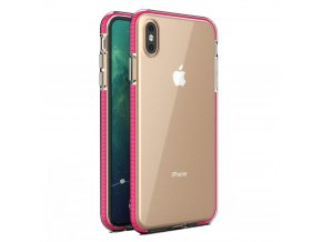 Spring Case TPU pouzdro pro Apple iPhone Xs MAX clear / pink
