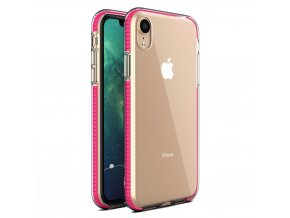 Spring Case TPU pouzdro pro Apple iPhone Xr clear / pink