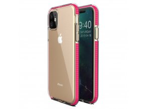 Spring Case TPU pouzdro pro Apple iPhone 11 clear / pink