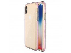 Spring Case TPU pouzdro pro Apple iPhone X / Xs clear / light pink