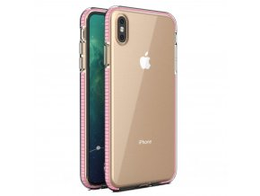 Spring Case TPU pouzdro pro Apple iPhone Xs MAX clear / light pink