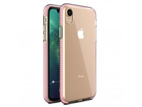 Spring Case TPU pouzdro pro Apple iPhone Xr clear / light pink