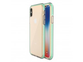 Spring Case TPU pouzdro pro Apple iPhone X / Xs clear / mint