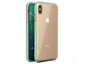 Spring Case TPU pouzdro pro Apple iPhone Xs MAX clear / mint