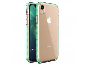 Spring Case TPU pouzdro pro Apple iPhone Xr clear /mint