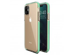 Spring Case TPU pouzdro pro Apple iPhone 11 clear / mint