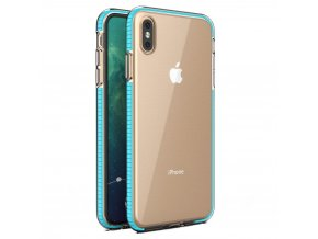 Spring Case TPU pouzdro pro Apple iPhone X / Xs clear / light blue