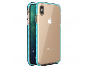 Spring Case TPU pouzdro pro Apple iPhone Xs MAX clear / light blue