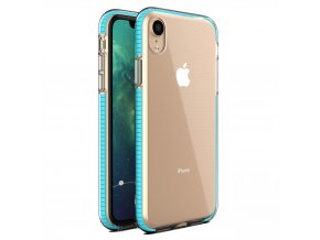 Spring Case TPU pouzdro pro Apple iPhone Xr clear / light blue