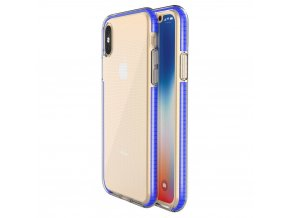Spring Case TPU pouzdro pro Apple iPhone X / Xs clear / blue