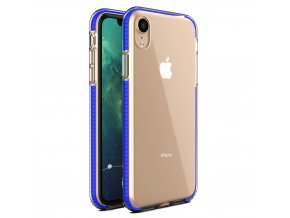 Spring Case TPU pouzdro pro Apple iPhone Xr clear / blue