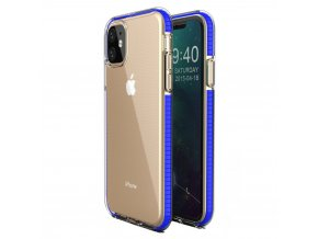 Spring Case TPU pouzdro pro Apple iPhone 11 clear / blue