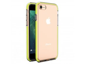 "Spring Case TPU pouzdro pro Apple iPhone 7 / 8 (4,7"") / SE 2020 clear / yellow"