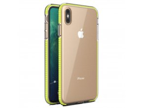 Spring Case TPU pouzdro pro Apple iPhone X / Xs clear / yellow