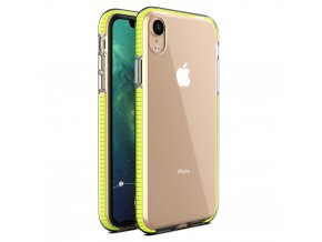 Spring Case TPU pouzdro pro Apple iPhone Xr clear / yellow
