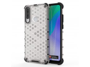 HoneyComb Armor Case odolné pouzdro pro Huawei Y6p clear white