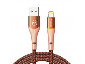 MCDODO CA-7845 USB kabel pro iPhone / Lightning 2,4A / 1,8m - rose/orange