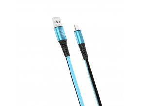 XO NB154 USB kabel - iPhone lightning 1m / 2A modrý