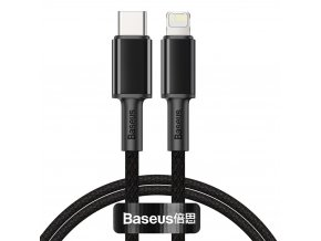 Baseus CATLGD-01 kabel USB-C PD / Apple Lightning 20W / 1m / černý