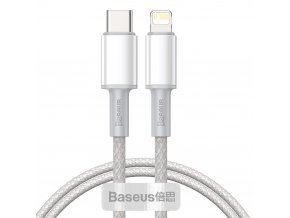 Baseus CATLGD-02 kabel USB-C PD / Apple Lightning 20W / 1m / bílý
