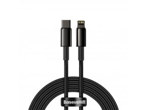 Baseus CATLWJ-A01 kabel USB-C PD / Apple Lightning 20W / 2m / černý