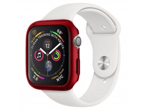 Spigen Thin Fit pouzdro / kryt k Apple Watch 4/5/6/SE - 44mm červený