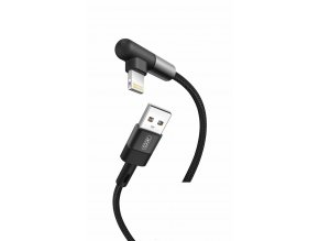 XO NB152 USB kabel - iPhone lightning 1m / 2,4A černý